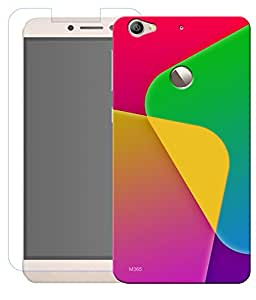 Combo of Abstract Art HD UV Printed Mobile Back Cover and Tempered Glass For Letv Le 1S