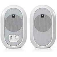 Monitores de referencia de escritorio compactos JBL Professional 1 Series 104-BT con Bluetooth, blanco, vendidos como pares, (JBL104-BT-WH)