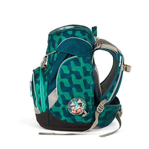 Ergobag Pack WunderBär, ergonomischer Schulrucksack, Set 6-teilig, 20 Liter, 1.100 g, Blau -