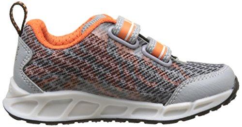 Geox J Shuttle A, Sneakers Basses Garçon Gris (Grey/orangec0036)