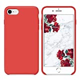 SURPHY Cover iPhone 8, Cover iPhone 7, Custodia iPhone 8 7 Silicone Slim Cover Antiurto con Morbida Microfibra Fodera, Ultra Sottile Cover Case per Apple iPhone 8 iPhone 7 4.7 Pollici, Rosso