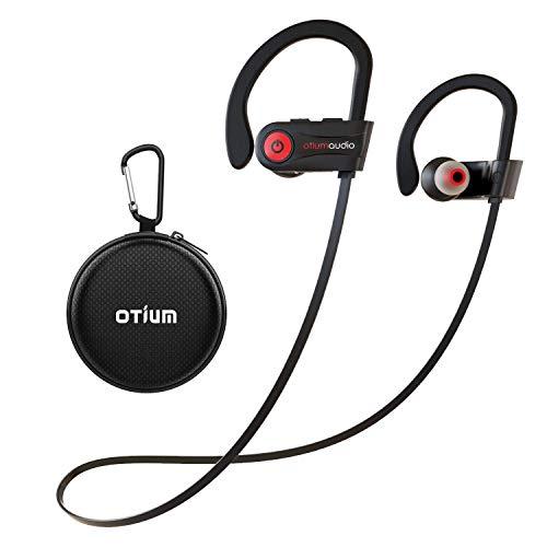 Bluetooth Kopfhörer Sport, Otium IPX7 Wasserdicht Sport Kopfhörer, Rich Bass/Bluetooth 4.1,In Ear SportKopfhörer Joggen/Laufen/Fitness, Kopfhörer mit Mikrofon