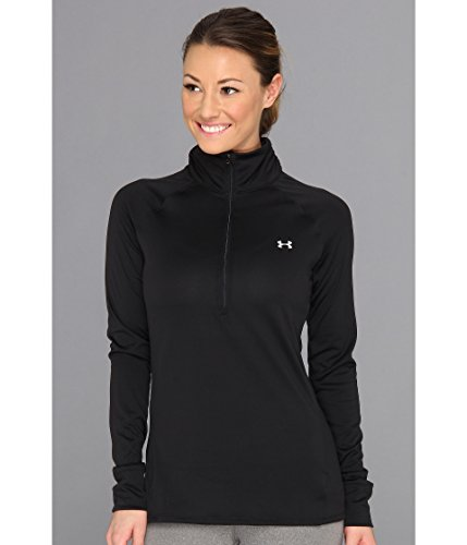 Under Armour Damen Top UA Tech 1/4 Zip, Black/Silver, XL - Under Armour Graphic T-shirt Baseball