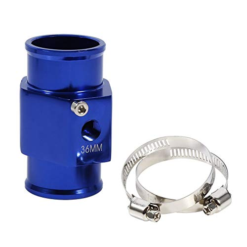 36millimeter von Wasser Blau Temperatur des Gemeinsame Rohr Sensor Temperatur Gauge Adapter des Rohr Kühlerschlauch
