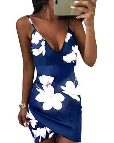 MINTLIMIT Kleid, V-Ausschnitt Blumenkleid Kleider Sommerkleid Abendkleid Elegant Cocktailkleid Party...