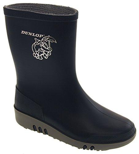 Dunlop Pluvieux Jour Eléphant Imperméable Bottes De Pluie Enfant Garçon Fille Bleu
