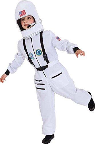 Kinder Kostüm Astronaut Overall weiß Karneval Fasching Gr.128-140