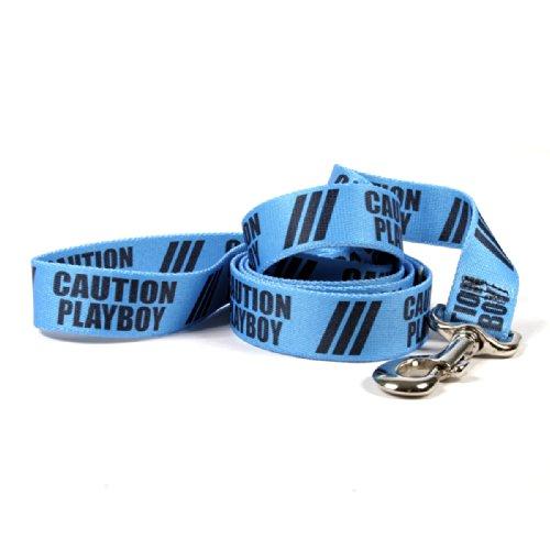 Yellow Dog Design Caution Playboy Hund Leine mit Easy Grip Komfort Griff, 2,5cm breit