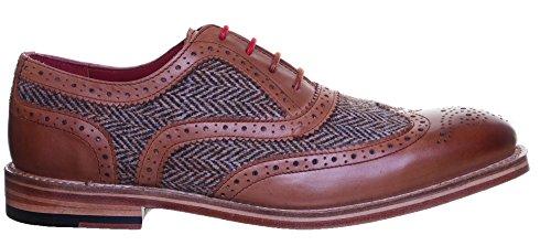 Justin Reece Truman en cuir pour homme à lacets Bureau Chaussures Taille UK Tan GF1
