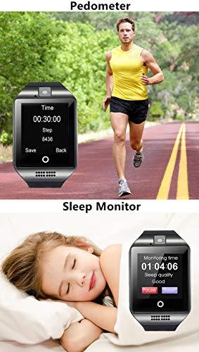 Smartwatch Bluetooth Smart Watch SN06 mit Touchscreen Kamera SIM-Karte Slot Fitness Tracker Sport Uhr für Samsung LG Sony Huawei Xiaomi Android phones iPhone ios für Damen Herren Kinder (Schwarz) - 5