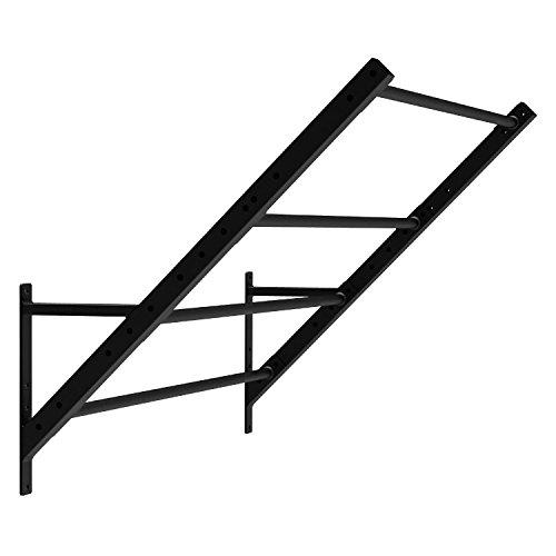 CAPITAL SPORTS Dominat Edition Monkey Bar Power Rack Erweiterung Anbauteil mit 4 Bars für Kletterübungen (167 cm breit, 133 cm lang, 45° Winkel) Schwarz