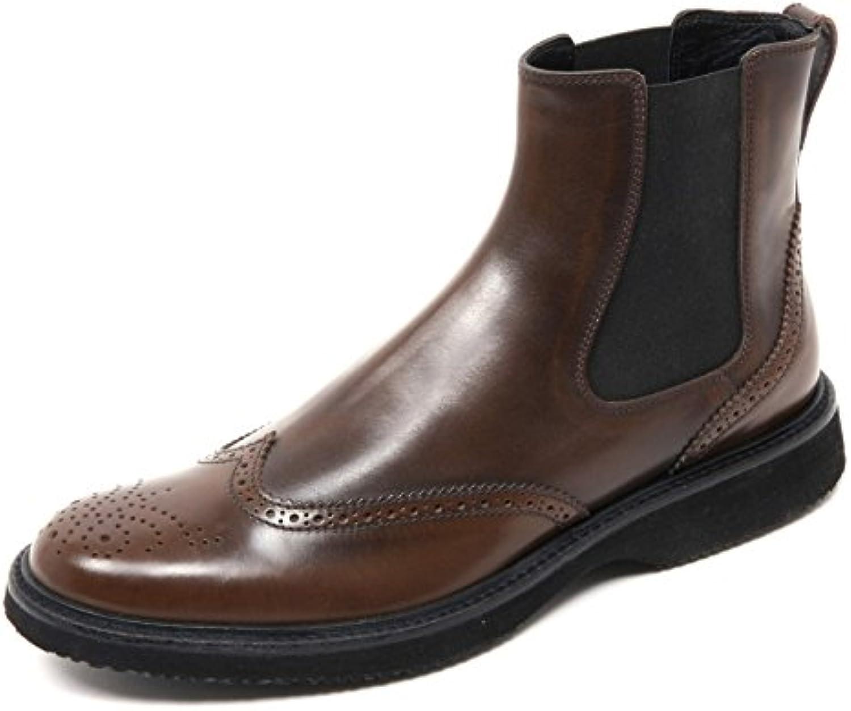 B8468 beatles uomo HOGAN H217 ROUTE scarpa stivaletto marrone shoe boot man