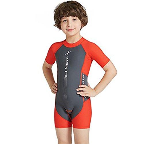 Baby Jungen Mädchen Schwimmanzug UPF 50+ Schwimmanzug UV Schutz Kurzarm Neoprenanzug Badeanzug für Wassersports L