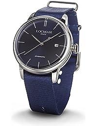 amazon co uk locman watches clock men 1960 ref 255 0255 a02 a 00blnknb locman