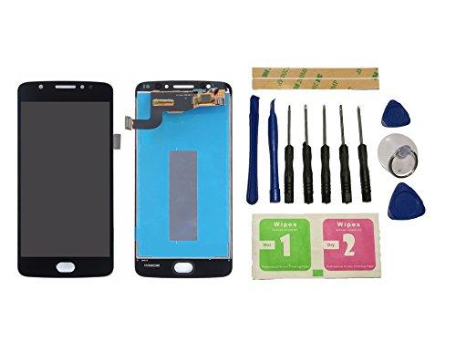 Flügel per Motorola Moto E4 E ( 4th Gen ) XT1766 XT1767 Schermo Display LCD Display Nero Touch Screen Digitizer ( Senza Frame ) Versione brasiliana di ricambio e Strumenti Gratuiti