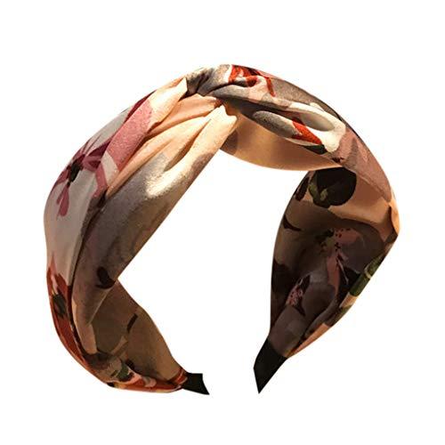 CANDLLY Stirnband Damen, Kopfschmuck Zubehör Mode Süß Blumen Stirnband Kreativ Kreuz Breitkrempig Haarschmuck Stirnbands Haarband Binden