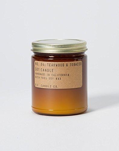 P.F. Kerze Co.-Nr. 04: Teak & Tabak Soja Kerze 7.2 oz Teakwood and Tobacco Eine Kerze Co
