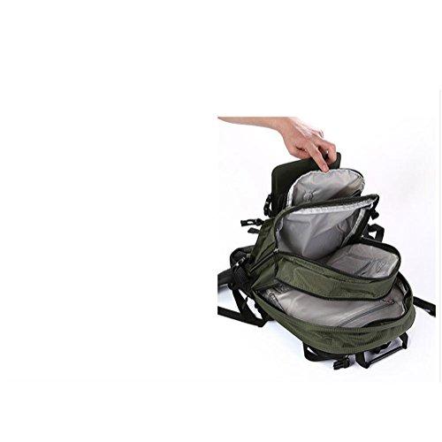 45LOutdoor professionelle Bergsteigen Tasche Solar Klettern RucksackTravel Tasche Ladepaket für Männer und Frauen army green