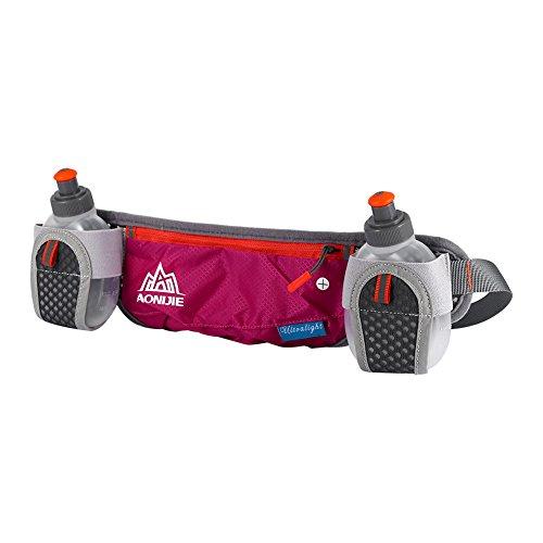 Lauftasche Hüfttasche Bauchtasche Für Outdoor-Aktivitäten Laufen Wandern Trekking Camping Für Männer Und Frauen Rosen-Rot