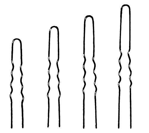 Ari Haarnadeln gewellt 1128/ 27 braun, 16 Stück, 65 mm, 2er Pack, (2x 16 Stück)