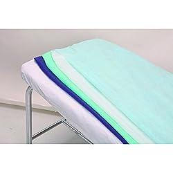 Sábanas desechables ajustables 125x230cm para cama de 90cm - 100 uds