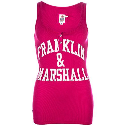 Womens-Franklin-And-Marshall-Logo-Vest-Top-In-Rapa-Pink