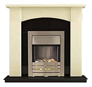 Adam Holden Fireplace Suite in Ivory with Helios Electric Fire, 2000 Watt