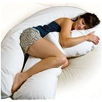 Grand oreiller de grossesse/maternité en C/U Adam Home de 3,6m, avec housse blanche détachable - Support pour dormir - Rembourrage en fibre creuse