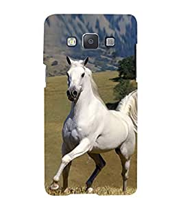 Elegant White Horse 3D Hard Polycarbonate Designer Back Case Cover for Samsung Galaxy A3 (2015 Old Edition) :: Samsung Galaxy A3 Duos :: Samsung Galaxy A3 A300F A300FU A300F/DS A300G/DS A300H/DS A300M/DS