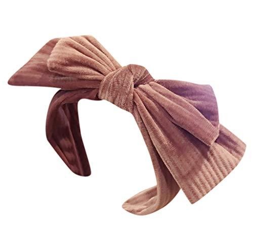 iCerber Bogen Knoten Stirnband Twist Knoten Haarbänder Kreuz Knoten Stirnband Breite Stirnbänder Haarschmuck für Frauen Mädchen Kostüm Lieferungen
