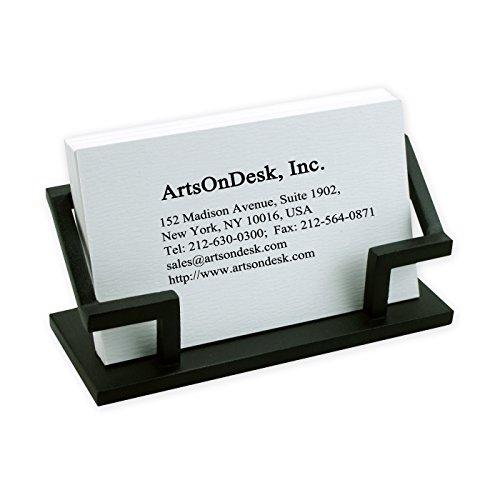 ArtsOnDesk Moderne Kunst Visitenkartenhalter Bk301 stahl Visitenkartenständer Visitenkartenaufsteller Visitenkarten-Etui Visitenkarte Schreibtisch-Accessoire Schreibtisch Organisator Geschenk