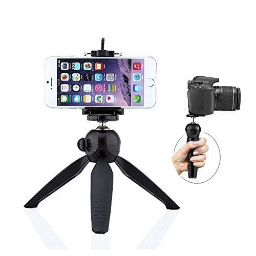 FAVOLCANO Yunteng Mini Tripod with Holder Clip Self-Tripod for Digital Camera & iPhone 6 Plus 6 5S 5C 4S & Samsung Galaxy S6 S6 Edge S5 S4 S3 Note 4 3 2 and Other Cellphones