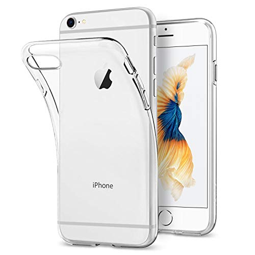 Whew Hülle Kompatibel iPhone 6 Plus, Handyhüllen Kompatibel iPhone 6s Plus, Anti-Fingerabdruck,kratzt, Ultra Dünn Hochwertigem Crystal Transparent Weich Silikon TPU Schutzhülle, 5.5 Zoll Case Cover