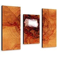 3 teiliges cuadro XL sobre lienzo (diseño abstracto de 95 x 70 cm) moderno de la decoración de precio! Imagen de tenis júnior con cuerdas en auténtico Lienzo y madera de bastidor. Protector de pantalla by Sinus Art