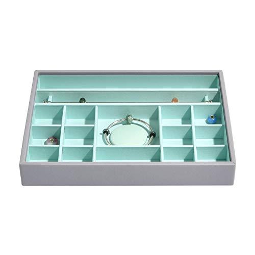 STACKERS Klassisches Charm-Schmuckkästchen zum Stapeln, Dove Grey & Mint Green, 25 x 18 x 3,5 cm -