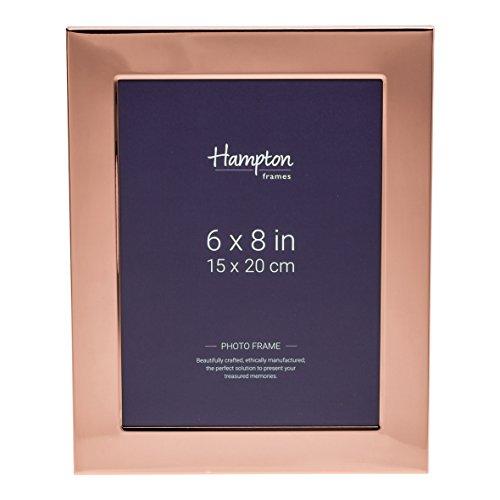Hampton Optik (Hampton Frames wa7468cp Woburn (Kupfer Teller 15,2x 20,3cm (15x 20cm) Blende Foto Rahmen mit breit 1in/2,5cm Profil und Rückseite in Samt-Optik und Strebe geeignet für Gravur)