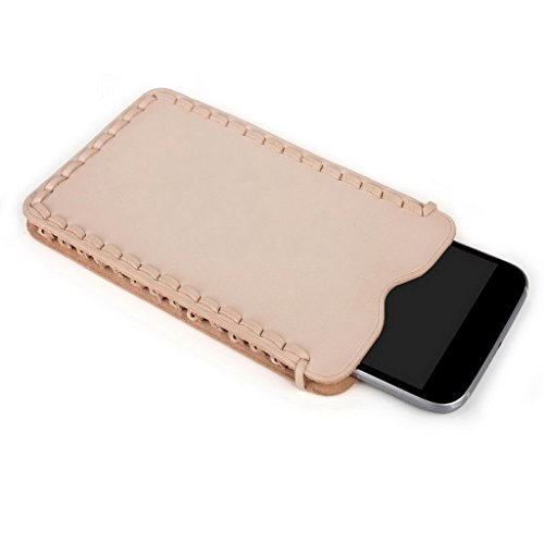Kroo Ultra Fin en Cuir Véritable pour téléphone portable pour Prestigio MultiPhone 5508Duo/5503Duo Marron - peau Marron - peau