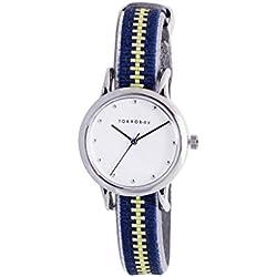 TokyoBay t623-nv Damen Edelstahl Navy Leder Band Weiß Zifferblatt Smart Watch