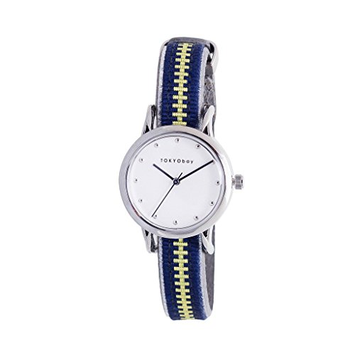 tokyobay-t623-nv-da-donna-in-acciaio-inox-quadrante-bianco-in-pelle-blu-smart-watch