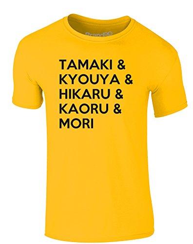 Brand88 - My Favourite Hosts, Erwachsene Gedrucktes T-Shirt Gänseblümchen-Gelb/Schwarz