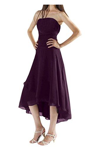Gorgeous Bride Schlicht Lang Traegerlos Empire Chiffon Abendkleid Festkleid Ballkleid Grape