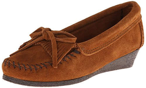 Minnetonka Kilty, Scarpa alta con zeppa, modello mocassino Donna Marrone (Braun (Brown)