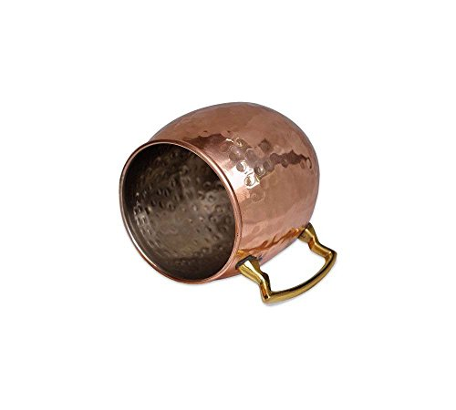 Copper Barrel Mug Hammered With Nickle 16 Oz 16 Oz Barrel Mug