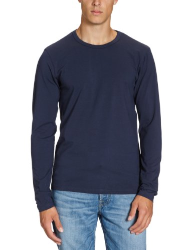 Navy Tee (JACK & JONES Herren Langarmshirt 12059220 Basic O-Neck Tee, Gr. 48 (S), Blau (NAVY BLUE))