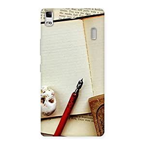 Impressive Little Diary Multicolor Back Case Cover for Lenovo A7000