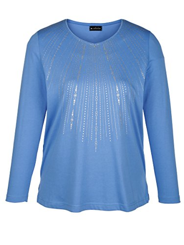 Damen Shirt mit streckendem V-Ausschnitt by m. collection Blau