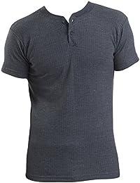 2 Mens Thermal Underwear Grandad Short Sleeve Vest