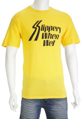 Slippery When Wet (T-Shirt Größe S) (Wet-t-shirt Wet Wet)