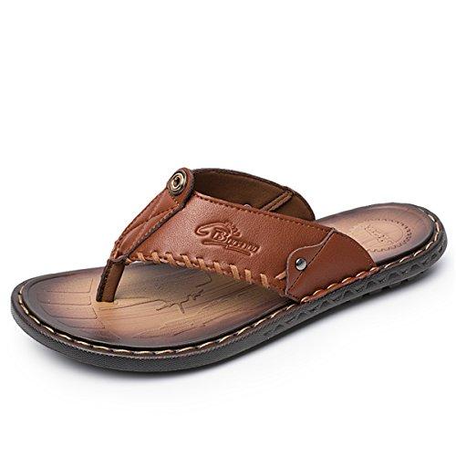 Gracosy Flip Flops, Unisex Zehentrenner Flache Hausschuhe Pantoletten Sommer Schuhe Slippers Weich Anti-Rutsch T-Strap Sandalen für Herren Damen