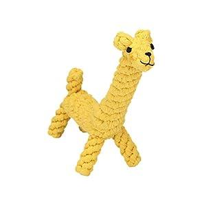Anruo Chiens Jouets à MâCher,Interactif Durable Tressé Coton Chien Jouets Girafe Pour Petit Chiens Les Dents Nettoyage